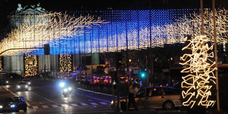 Luces Navidad Madrid autobus